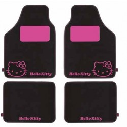 ALFOMBRAS MOQUETA HELLO KITTY NEGRA